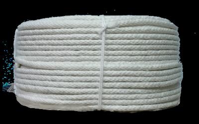 เชือกถักกลมสีขาว