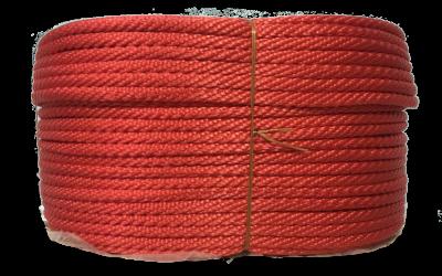 เชือกถักกลมสีแดง
