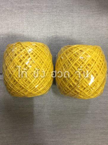 เชือกปอย้อมสีเส้นเล็กขนาด 1.5 มม. สีเหลือง