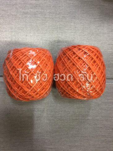 เชือกปอย้อมสีเส้นเล็กขนาด 1.5 มม. สีส้ม no.02