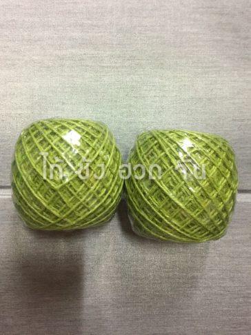 เชือกปอย้อมสีเส้นเล็กขนาด 1.5 มม. สีเขียว no.1