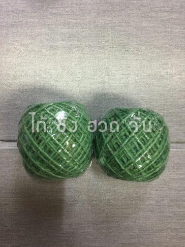 เชือกปอย้อมสีเส้นเล็กขนาด 1.5 มม. สีเขียว no.2