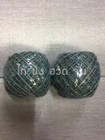เชือกปอย้อมสีเส้นเล็กขนาด 1.5 มม. สีเขียว no.4